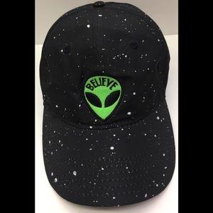 Accessories - Green Alien Black Galaxy Embroidered Baseball Cap